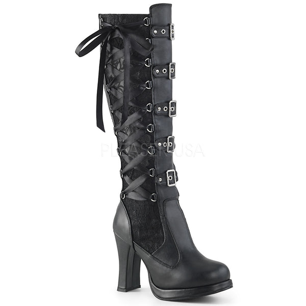 CRYPTO-106 Black Vegan Leather-Lace
