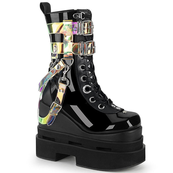 ETERNAL-115 Black Patent-Vegan Leather