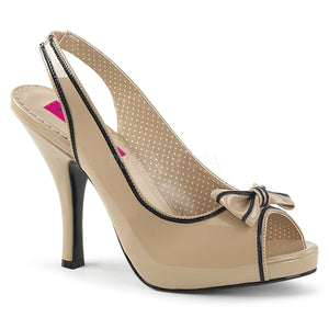 PINUP-10 Cream-Black Patent