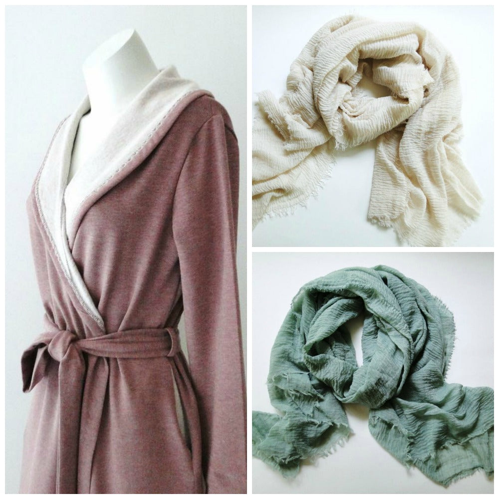 Cozy robes and oversized shawls