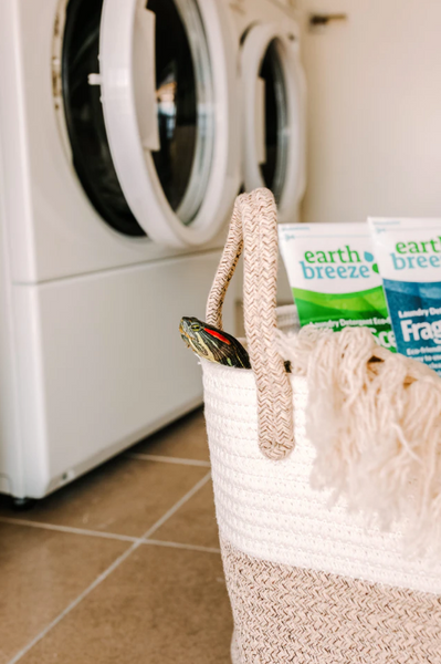 Earth-friendly laundry detergent care