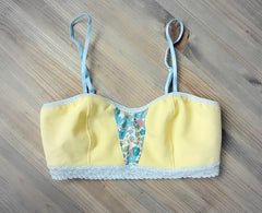 yellow floral bralet