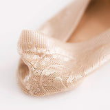 tan beige lace socks