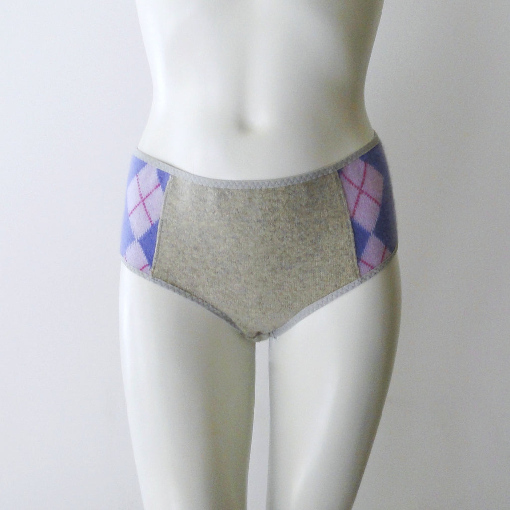 purple argyle panties