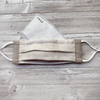 linen pleated face mask with filter