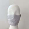 grey pleated face mask organic cotton