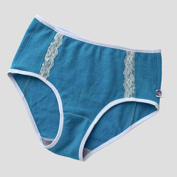 Organic bralette with semi-sheer trim