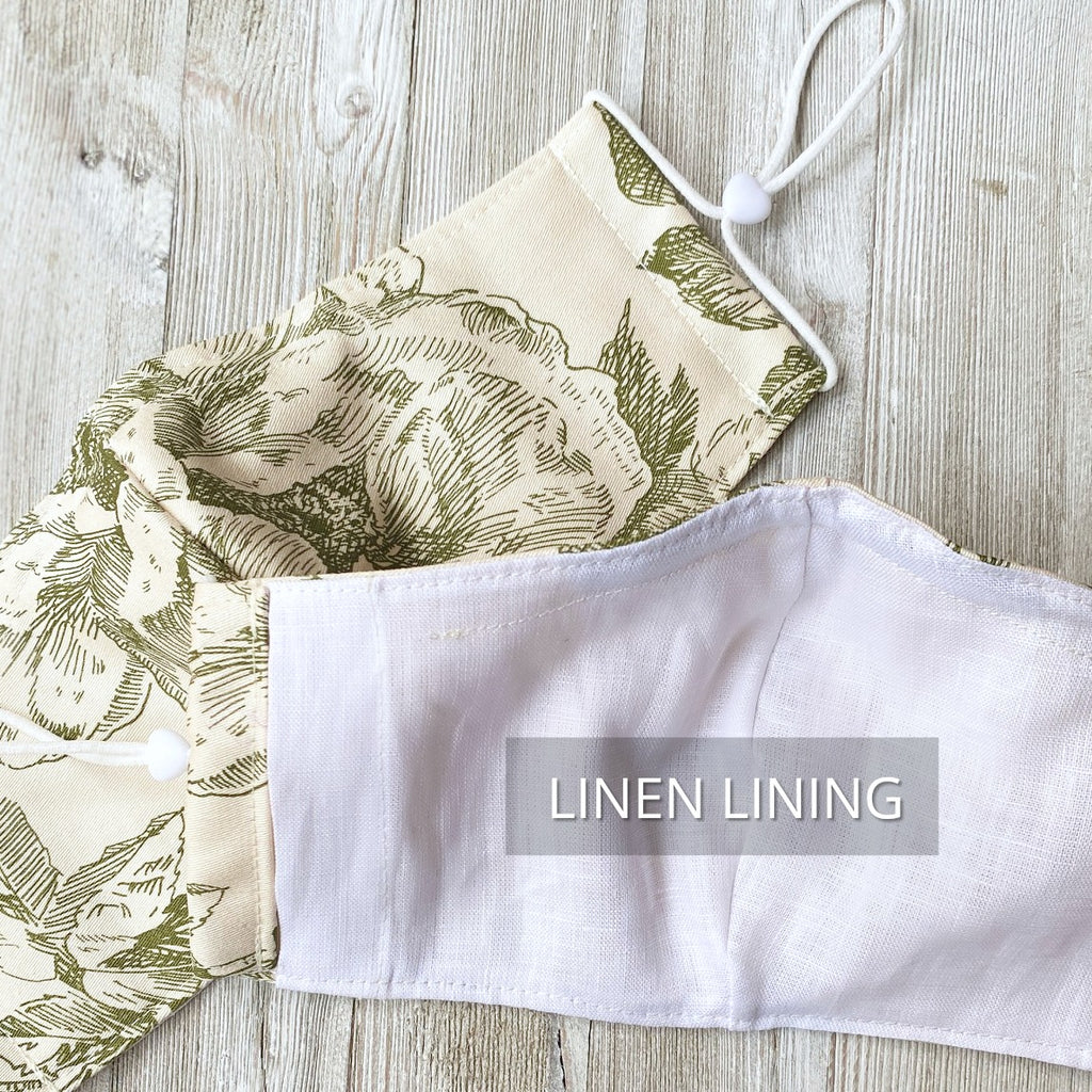 face mask with linen lining
