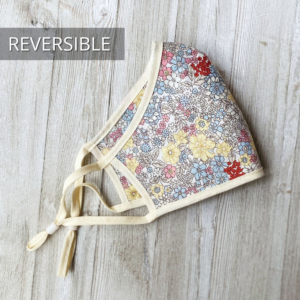 reversible floral face mask