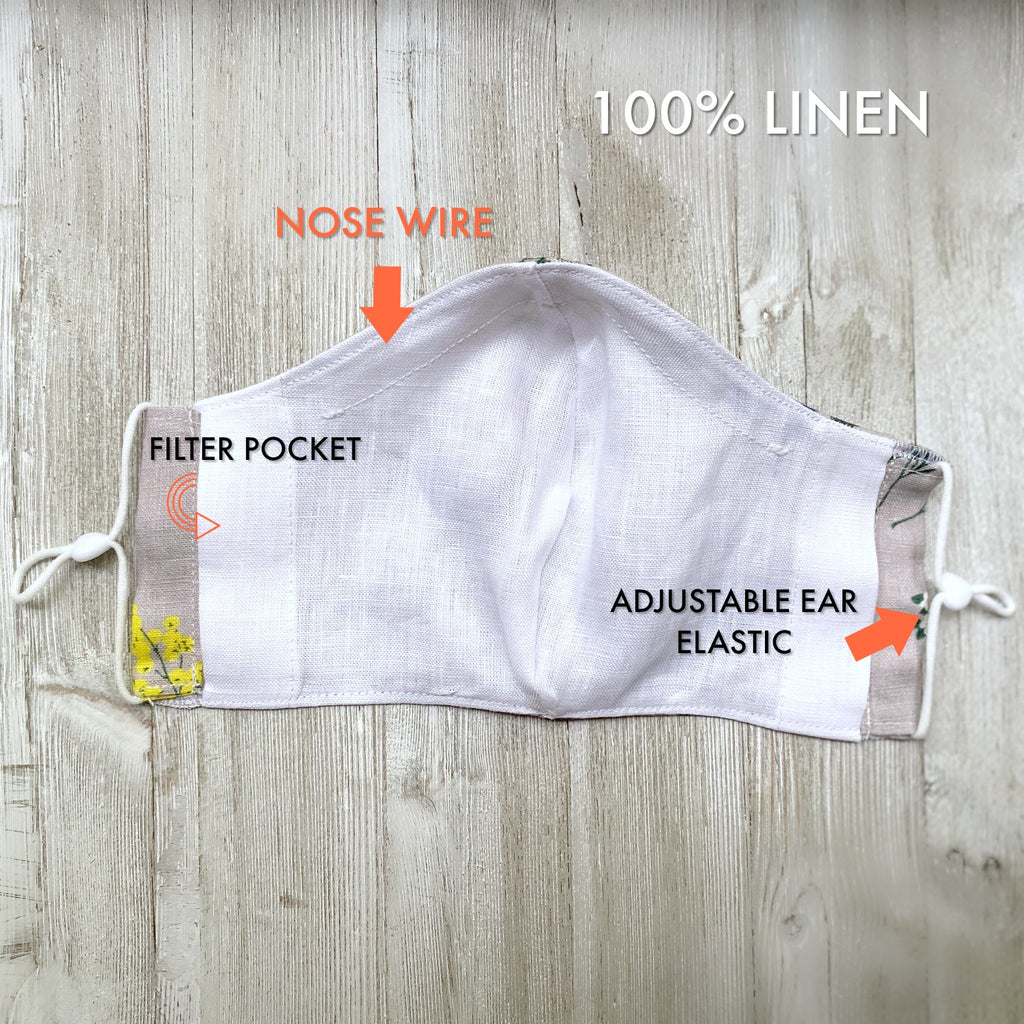 linen face mask made in Canada