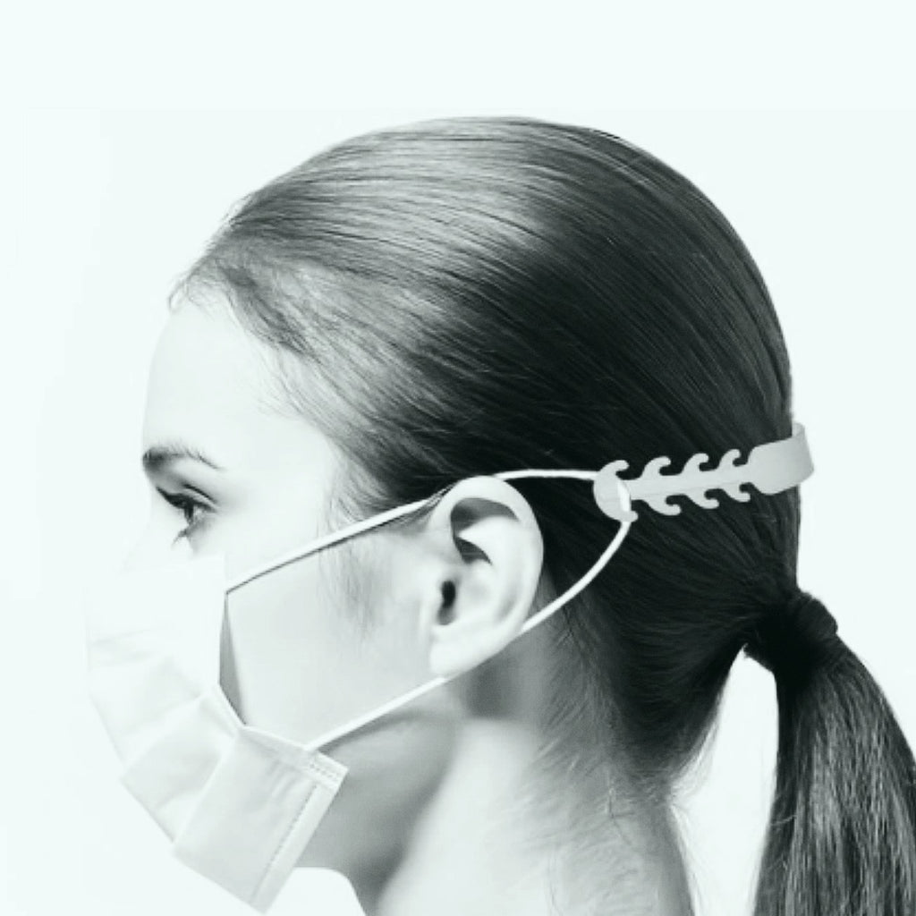 how to wear ear saver mask clip