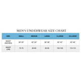 mens underwear conversion chart