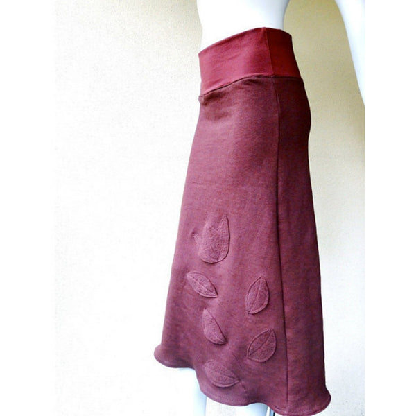 red hemp skirt
