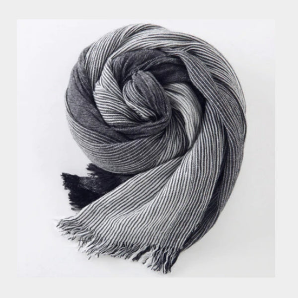 charcoal line  scarf