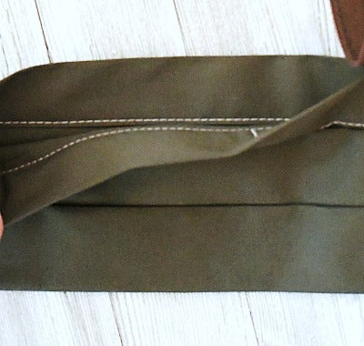 cotton face mask in olive