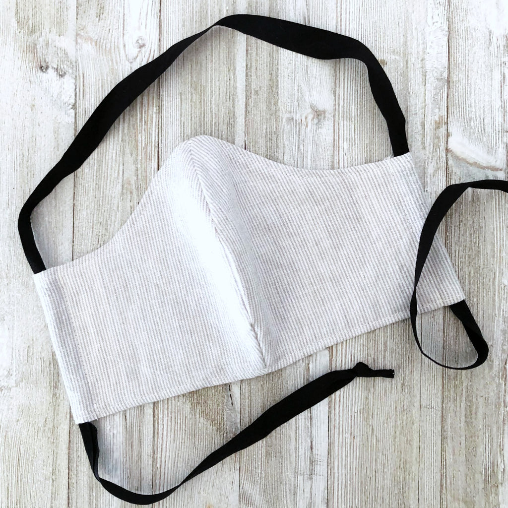 face mask with back ties