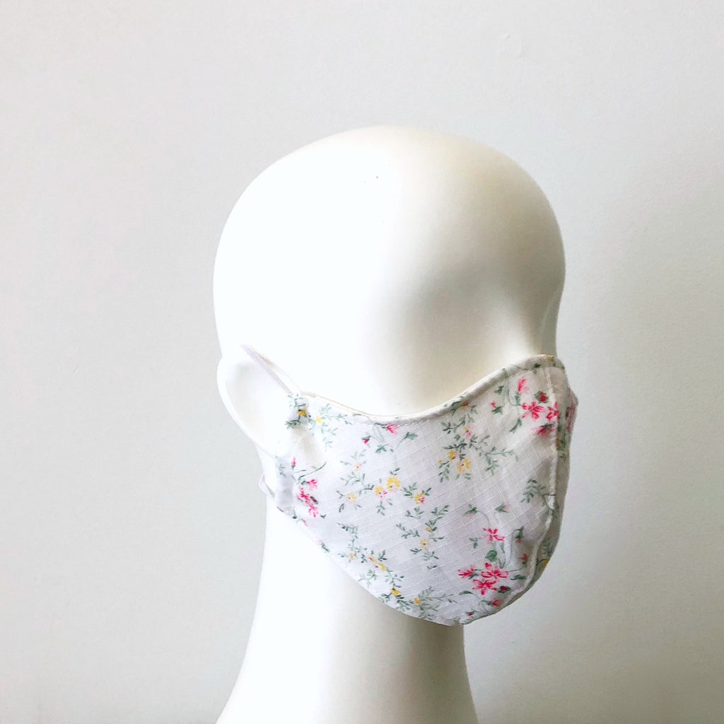 face mask with flowers