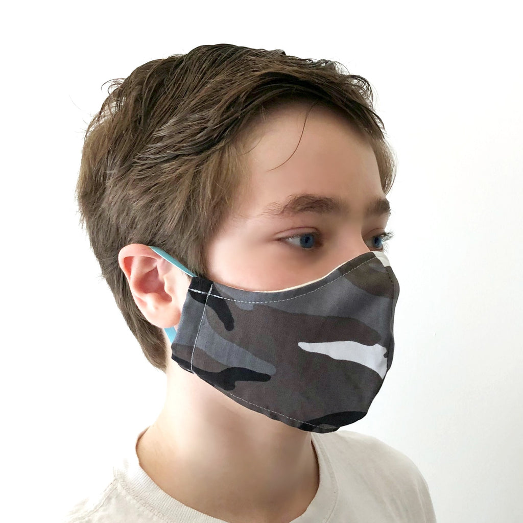 washable mask for kids camo