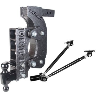 "The Boss (Torsion-Flex) 16K Drop Hitch w/ 2"" Receiver and 15"" Drop and 5 Adjustable Positions"