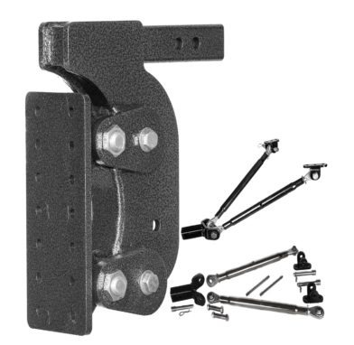 "The Boss (Torsion Flex) Pintle Plate w/ 2 1/2"" Receiver (21K) and 15"" Drop and 7 Adjustable Positions"