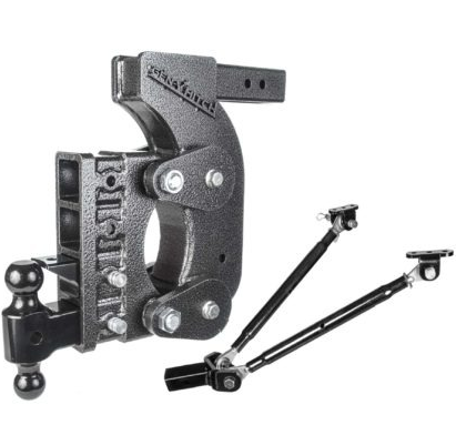 "The Boss (Torsion-Flex) 16K Drop Hitch w/ 2""Receiver and 12 1/2"" Drop and 4 Adjustable Positions"