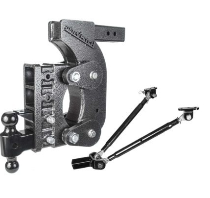 "The Boss (Torsion-Flex) 21K Drop Hitch w/ 2 1/2"" Receiver and 15"" Drop and 4 Adjustable Positions"
