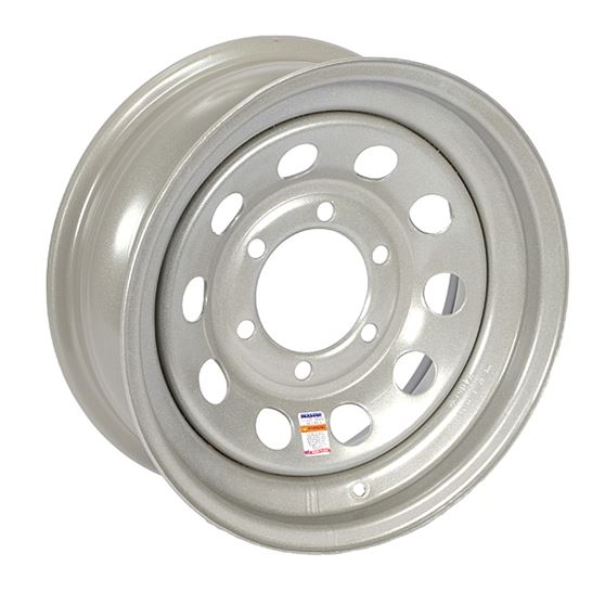 Dexstar 15 x 6 Silver Mod Wheel 655 WH156-6SM -AT NexAge Trailer Parts We Price Match Etrailer with Free Shipping, Dexstar