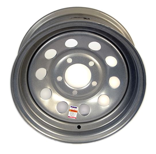 Dexstar 14 x 5.5 Silver Mod Wheel 545 17-230-19 -AT NexAge Trailer Parts We Price Match Etrailer with Free Shipping, Dexstar