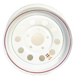 Dexstar 15x5 White Mod Wheel 5 on 5 -AT NexAge Trailer Parts We Price Match Etrailer with Free Shipping, Redline