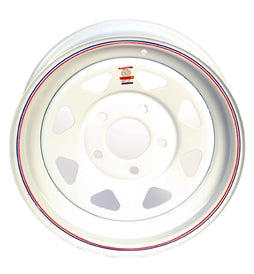 Dexstar 15x5 White Spoke Wheel 5 on 5 -AT NexAge Trailer Parts We Price Match Etrailer with Free Shipping, Redline
