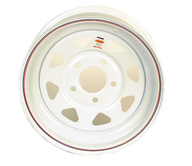Dexstar 15 x 6 White Spoke Wheel 550 17-422-12 -AT NexAge Trailer Parts We Price Match Etrailer with Free Shipping, Dexstar
