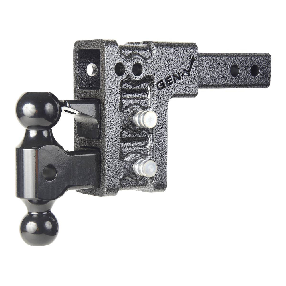 "Mega-Duty 10K Drop Hitch w/ Versa-Ball Mount 5"" Drop 3 Adjustable Positions -AT NexAge Trailer Parts We Price Match Etrailer with Free Shipping, Gen-Y"