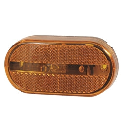 Optronics Amber Oblong Incand. MRK/CLR Light w/Reflector MC-31AB -AT NexAge Trailer Parts We Price Match Etrailer with Free Shipping, Optronics