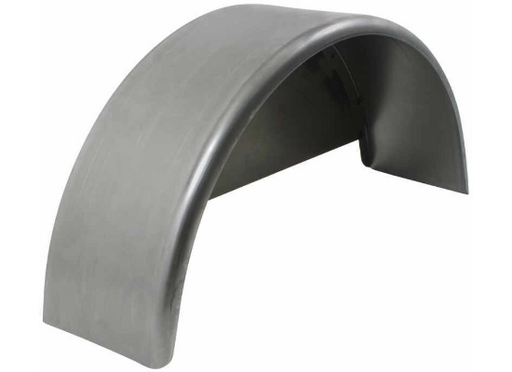 "Steel Single Axle Aluminum Fender with Back for 14"" & 15"" Tires"