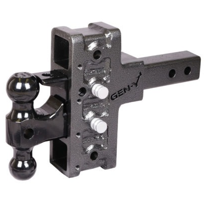 "Mega-Duty 16K Drop Hitch W/ Versa-Ball Mount and 5"" offset Drop and 4 Adjustable Positions -AT NexAge Trailer Parts We Price Match Etrailer with Free Shipping, Gen-Y"