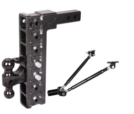 "Mega-Duty 16K Drop Hitch w/ Versa-Ball Mount and 15"" Drop and 7 Adjustable Positions -AT NexAge Trailer Parts We Price Match Etrailer with Free Shipping, Gen-Y"