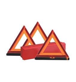 HD Emergency Warning Triangle Kit 3 Pack 73-0711-00 -AT NexAge Trailer Parts We Price Match Etrailer with Free Shipping, Redline
