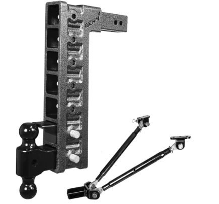 "Mega-Duty 21K Drop Hitch w/ 18"" Offset Drop and 7 Adjustable Positions -AT NexAge Trailer Parts We Price Match Etrailer with Free Shipping, Gen-Y"
