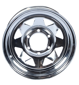 15 x 6 Chrome Spoke Wheel 655 WH156-6CS -AT NexAge Trailer Parts We Price Match Etrailer with Free Shipping, Dexstar
