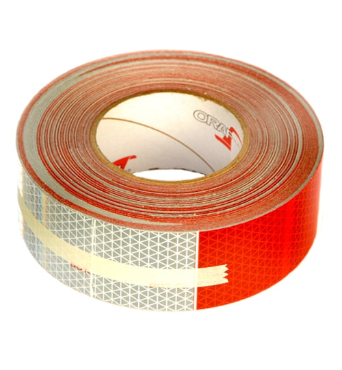 Reflexite 11in Red/7in White 2in x 150ft Roll Conspicuity Tape 5549KC