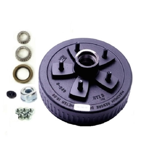 Dexter 5 on 5.5in EZ-Lube Hub & Drum Kit For 3.5K Axles 84557UC3-EZ