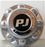 Chrome 8 Lug Hub Cover w/PJ Logo -AT NexAge Trailer Parts We Price Match Etrailer with Free Shipping, PJ Trailer Parts