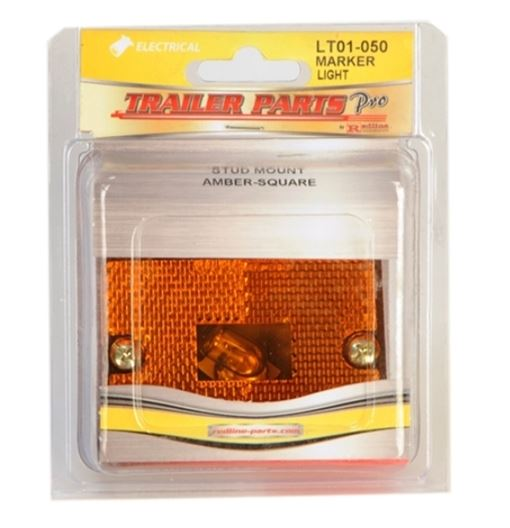 Redline Amber Square Stud Mount Clearacne/Marker Light LT01-050
