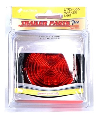 Redline 2 1/2in Red LED Clearance/Marker Light w/Grommet & Pigtail LT02-355