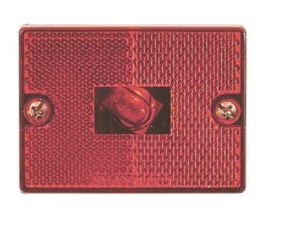 Optronics Red Square Reflector MRK/CLR Light MC-36RB