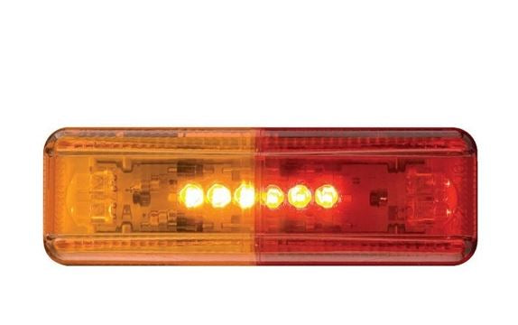Optronics Red/Amber LED Thin Line Fender Mount MRK/CLR Light MCL-67ARB