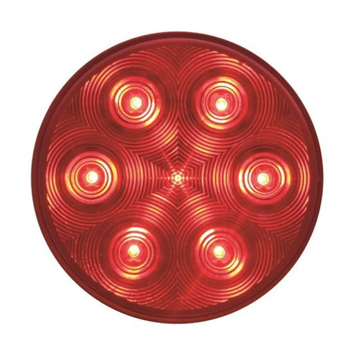 Optronics Fleet 4in Round LED S/T/T Light STL-13RB -AT NexAge Trailer Parts We Price Match Etrailer with Free Shipping, Redline