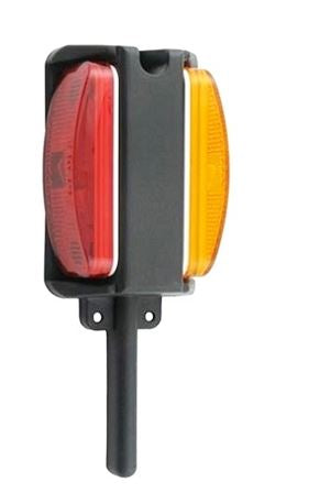 Optronics LH Fender Mount Red/Amber Clearance/Marker Light BA-44FNL