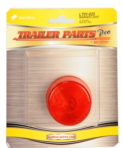 Redline Red 2in Round Clearance/Marker Light LT01-025