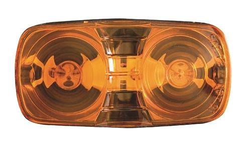 Redline Amber Bullseye Clearance/Marker Light w/Black Base LT01-200